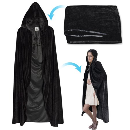 Strong Camel Halloween Cloak Cosplay Costume Witch Hooded Robe Party Long Fancy Dress 4 Sizes for Choice - Halloween Fancy Dress Pairs