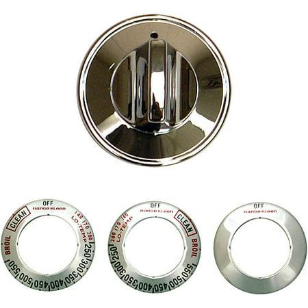 - Range Kleen Single Replacement Knob Kit, Gas Ranges, Chrome, 6 Pieces