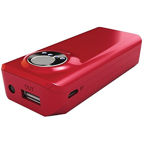 Hipstreet Hs-pb2a06-rd 4,000mah 2.1a Red Power Bank