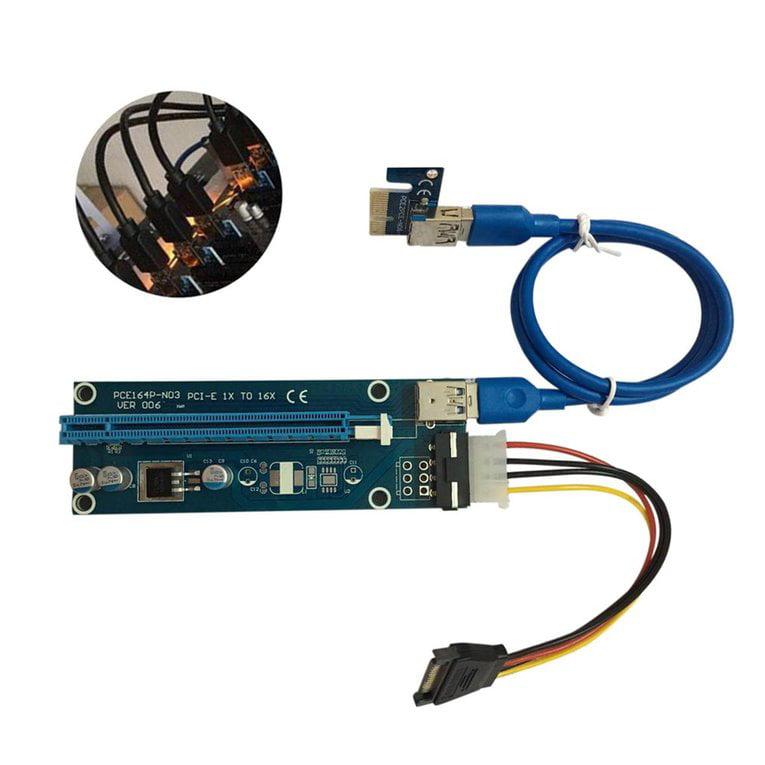 20pcs/set PCI-E PCI Express 1X to 16X Extender Riser Card...
