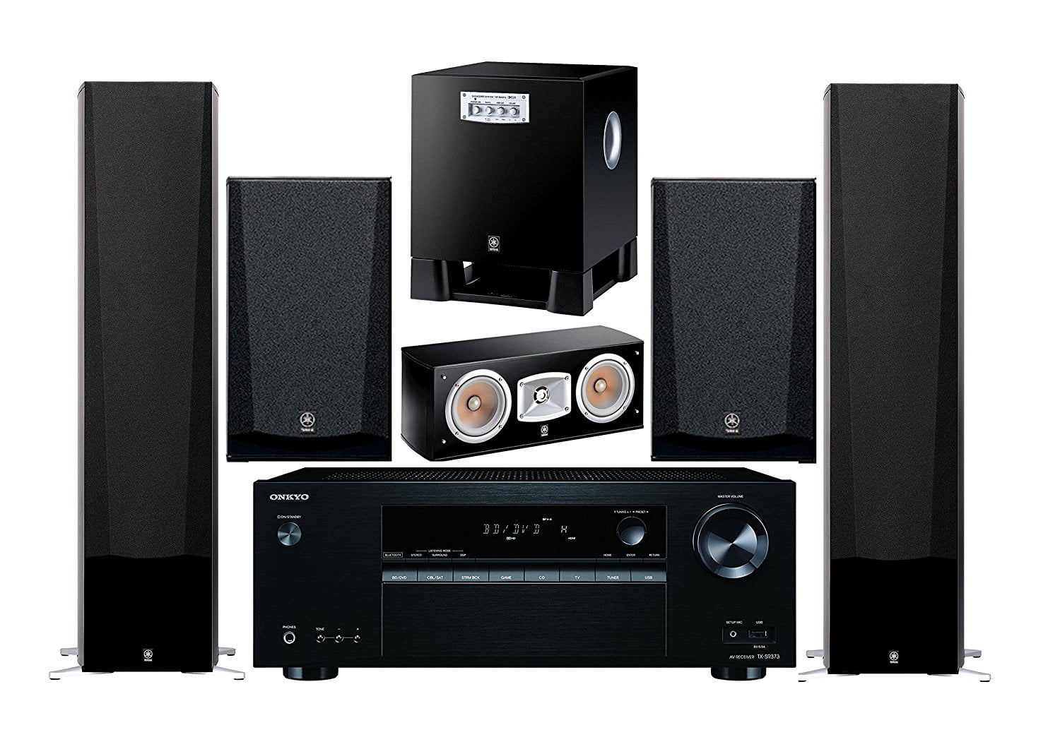Onkyo 5.2 -Channel Wireless Bluetooth 4K 3D A V Surround Sound Multimedia Home Theater System by Onkyo