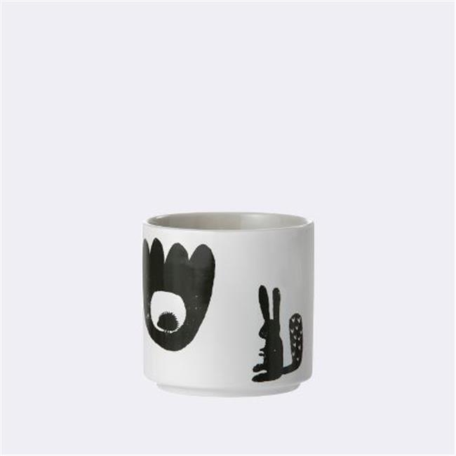 Ferm Living KIDS 5351 Landscape Porcelain Cup - Grey - 7.3 x 7.3 cm.