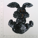 "Expo Int'l 8 1/2"" x 6 3/4"" Bunny Rabbit Sequin Applique"