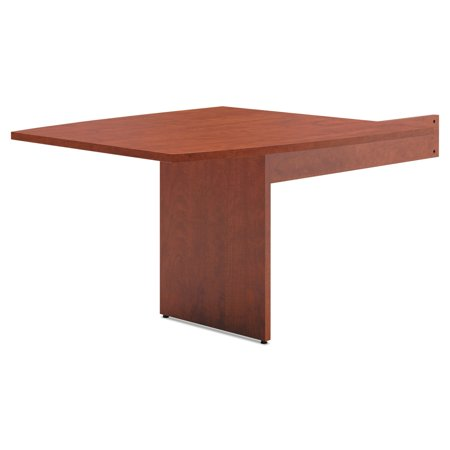 BL Laminate Series Boat-Shaped Modular Conference Table End, Boat, Medium Cherry