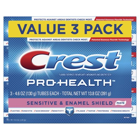 Crest Pro-Health Sensitive & Enamel Shield Toothpaste, 4.6 oz, Pack of 3