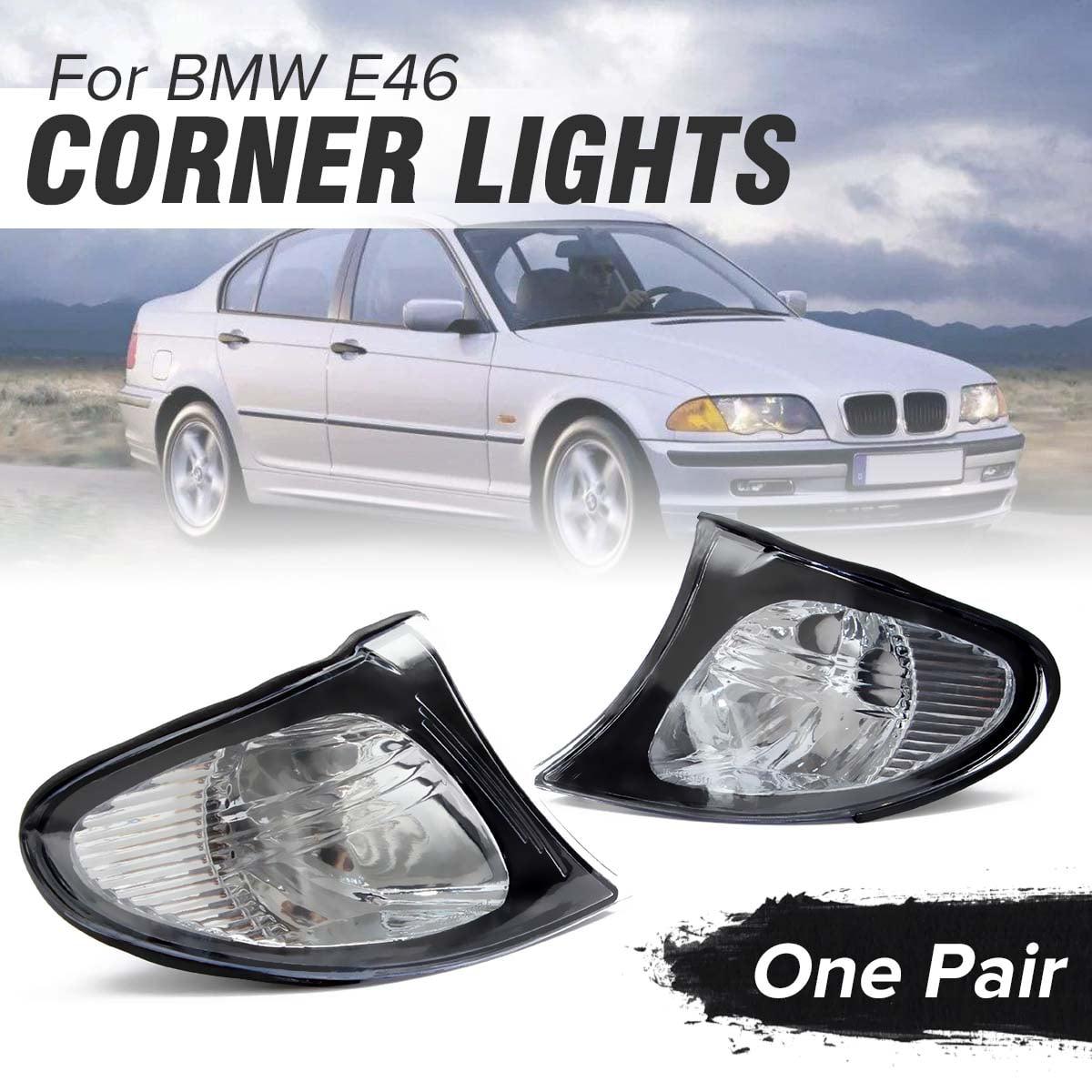 Pair Corner Lights Side Light For BMW E46 3-Series 4DR 02-05 325i 330i Clear Len