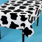 "2 Cow Spots Table Covers Farm Barnyard Animal Birthday Party 54"" x 72"""