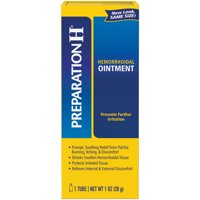 PREPARATION H Hemorrhoid Symptom Treatment Ointment, Itching, Burning & Discomfort Relief, Tube (1.0 Ounce)