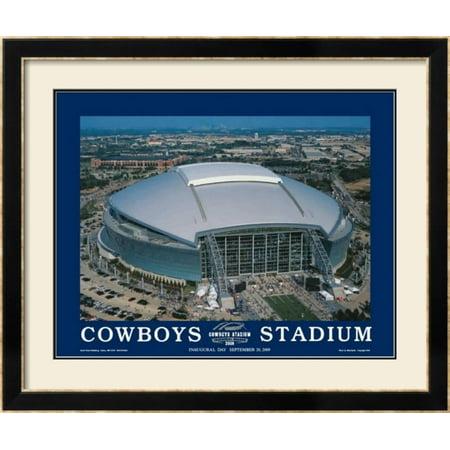 First Inaugural Game, Cowboys Stadium, Arlington, Texas, Se... Framed Art Print Wall - Halloween Arlington Texas