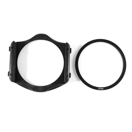 - 3-Slot Filter Holder + 77mm Aluminum Adapter Ring for Cokin P Series DSLR