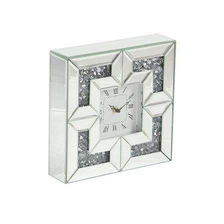 - Decmode Modern 10 X 10 Inch Square Wood Analog Wall Clock