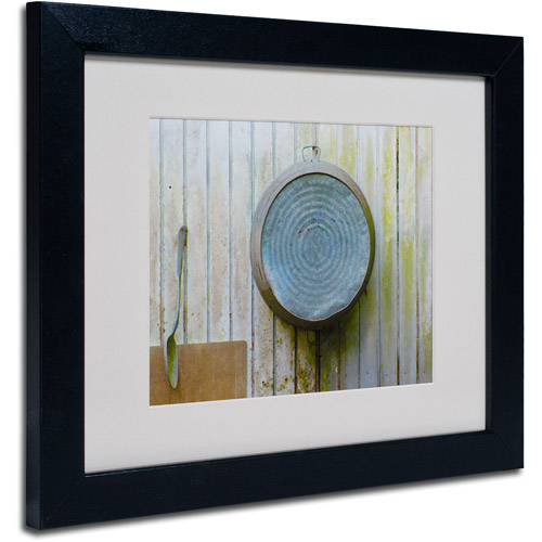 "Trademark Fine Art ""Positively Primitive"" Matted Framed Art by Patty Tuggle, Black Frame"