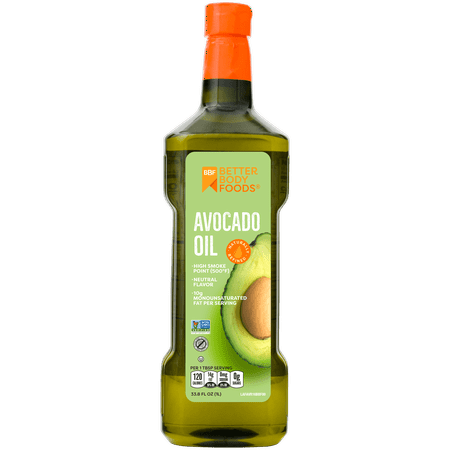 Better Body Foods Pure Avocado Oil 33.8oz, 1Liter