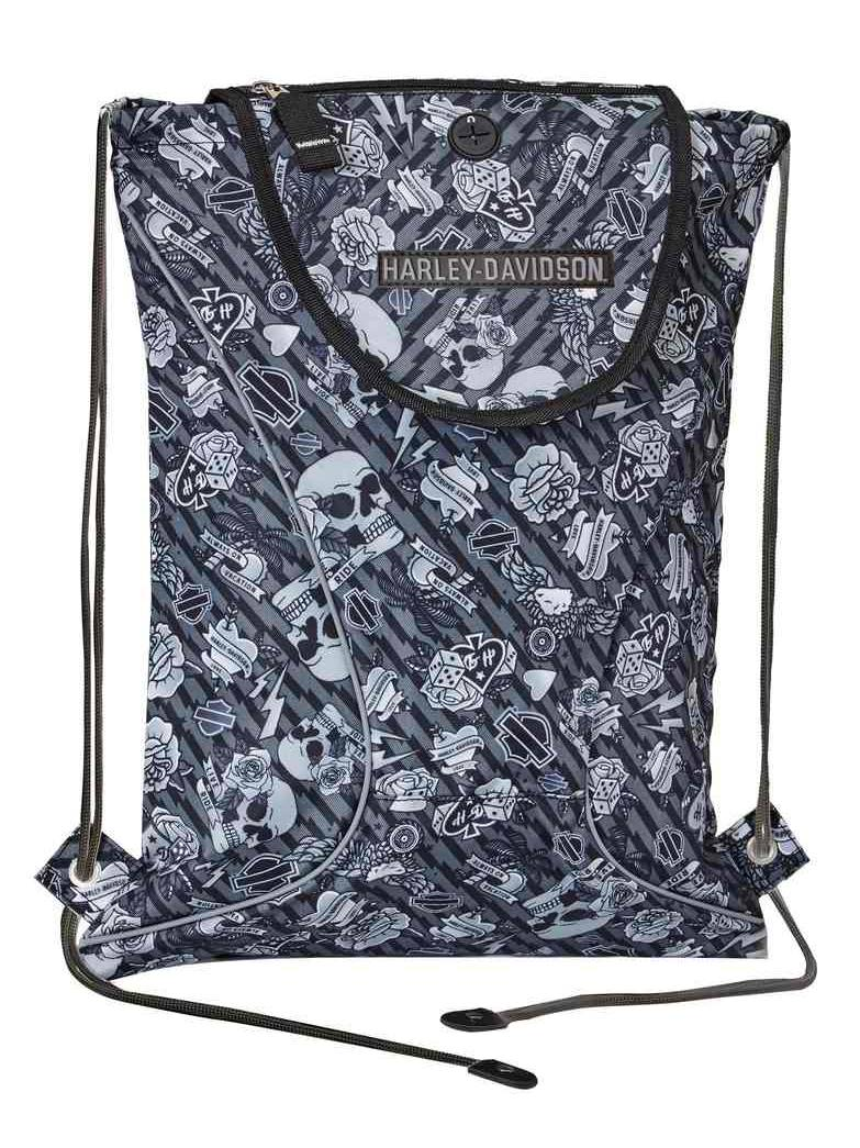 Harley-Davidson Mini Me Backpack Sleek /& Functional Tattoo Design 99668-TAT