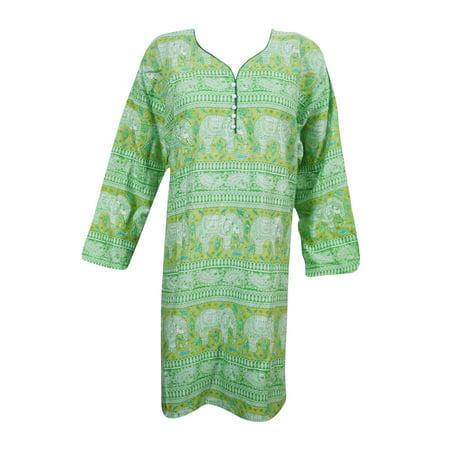 Mogul Indian Ethnic Rayon Printed Kurti Casual Party Wear Kurta Tunic