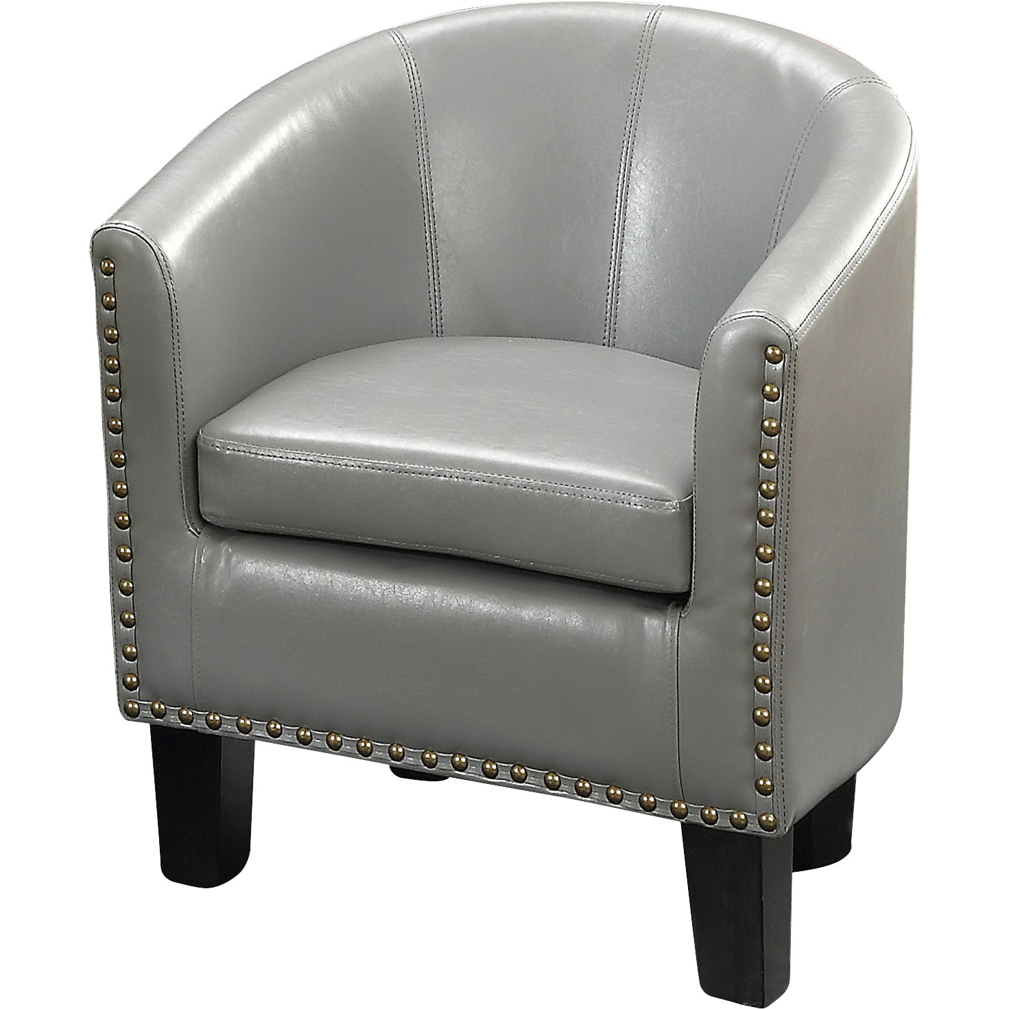 Alton Furniture Gemma Arm Club Chair, PU Leather Barrel Modern Chair, Multiple Colors by Fully Wind Co, Ltd.