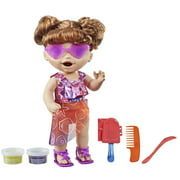 """Baby Alive Sunshine Snacks Doll, Eats and """"Poops,"""" Waterplay Doll, Brown Hair"""