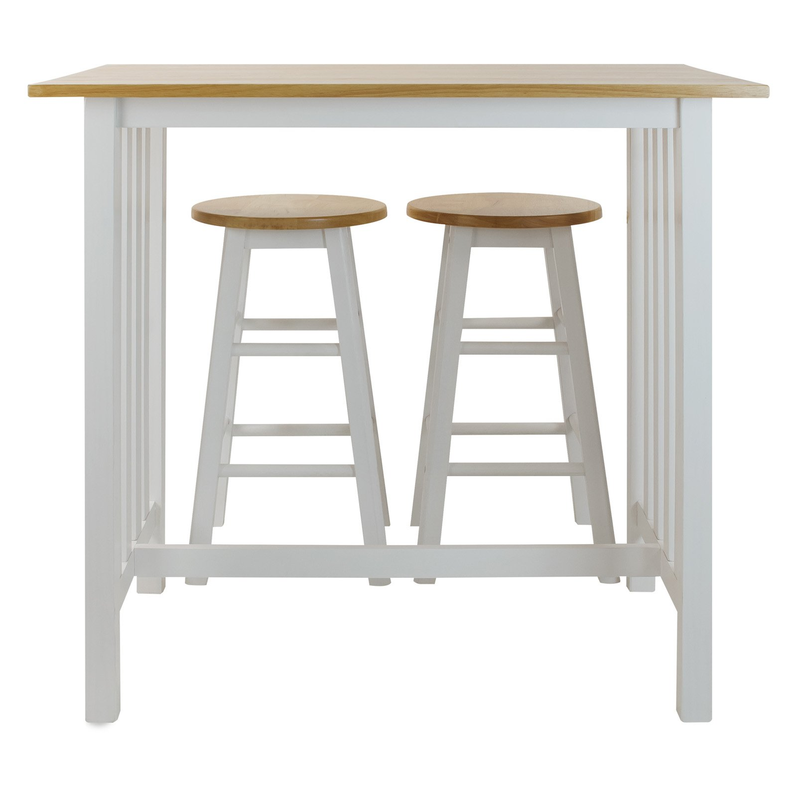 High Quality 3pcs Breakfast Set Made With Solid Wood White   Walmart.com Home Design Ideas