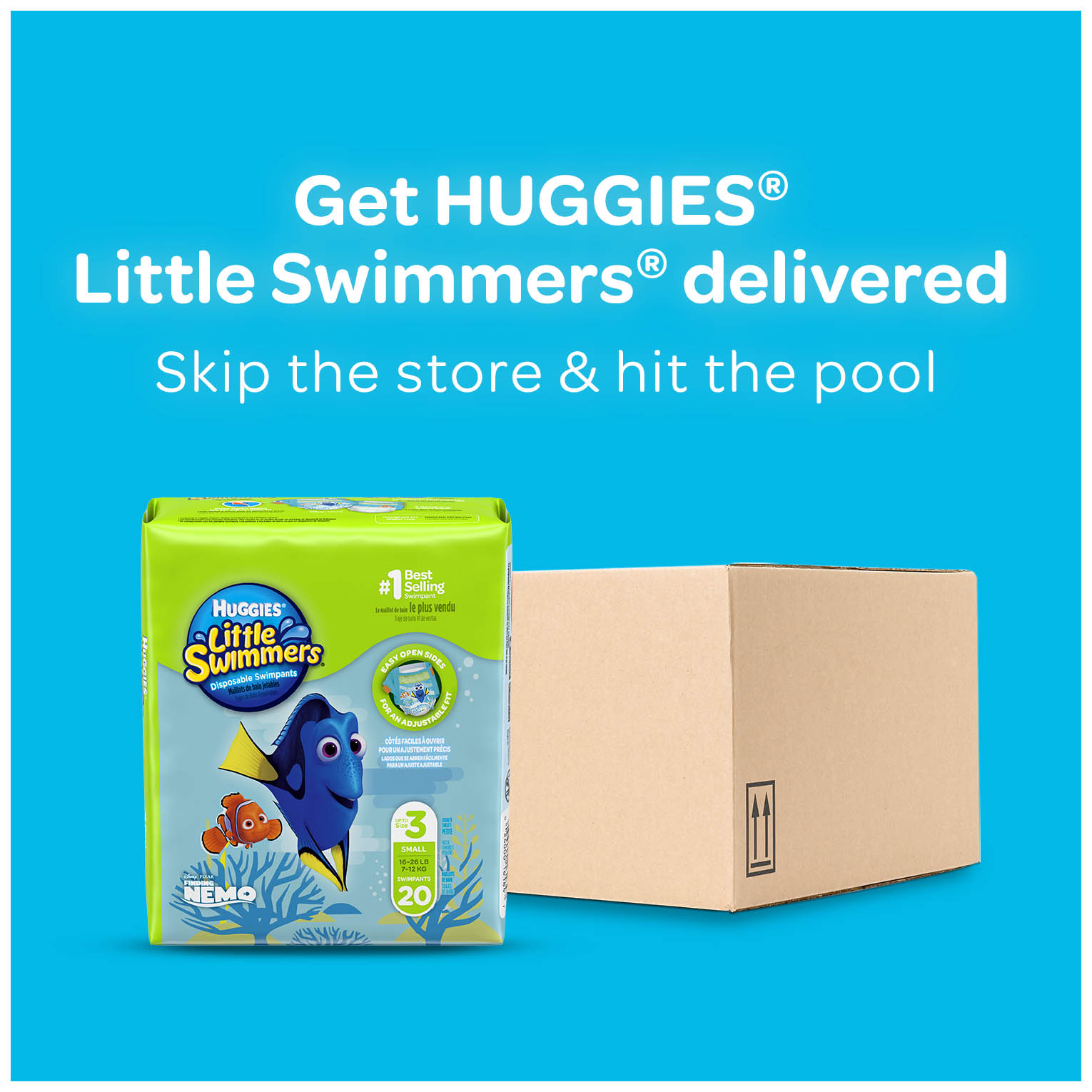 HUGGIES Little Swimmers Disposable Swim Diapers, Size Small (16-26 lbs), 20  Count - Walmart.com