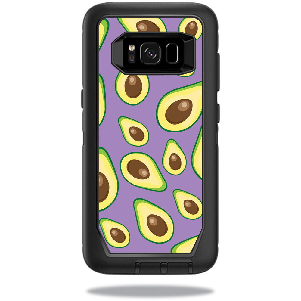 MightySkins Protective Vinyl Skin Decal for OtterBox DefenderSamsung Galaxy S8 Case sticker wrap cover sticker skins Purple Avocados