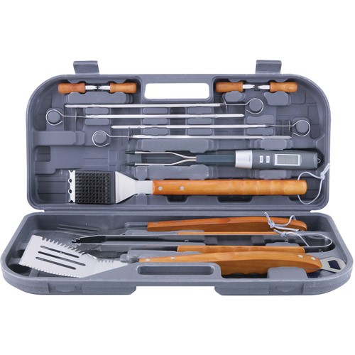 Mr. Bar-B-Q Stainless-Steel Grill Tool Set with Bonus Thermo Fork, 12-Piece