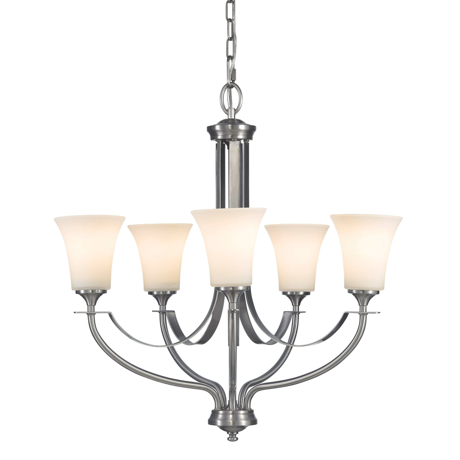 Feiss Barrington Chandelier 25.5W in. Brushed Steel by Murray Feiss