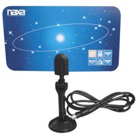 Naxa Ultra-Thin Flat Panel Style High Powered Antenna Suitable for HDTV and ATSC Digital Television