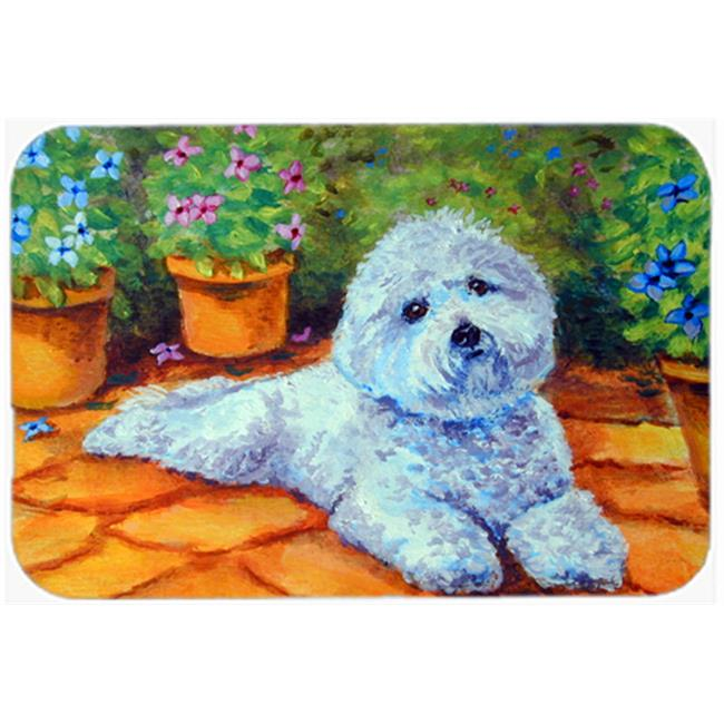 Fiddlers Elbow Bichon Frise on Porch Mouse Pad