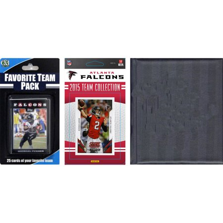 C&I Collectables NFL Atlanta Falcons Licensed 2015 Score Team Set and Favorite Player Trading Card Pack Plus Storage Album
