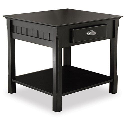 timber end table. Black Bedroom Furniture Sets. Home Design Ideas