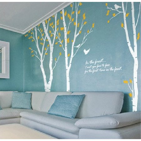 White Birch Tree Wall Decal Quote Vinyl Sticker For Kids S Boys Family Bedroom