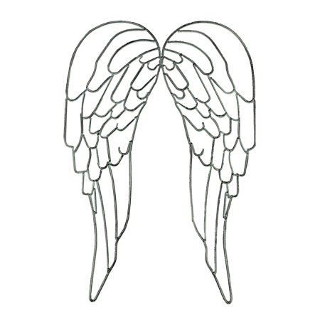 Angel Wall Sculpture (Metal Wire Art Angel WIngs Wall Sculpture 25 inch )