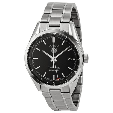 Pre-owned Tag Heuer Carrera Automatic Black Dial Men's Watch (Tag Heuer Carrera Twin Time Wv2115 0)