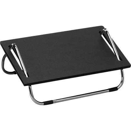 Safco, SAF2105, Adjustable Footrests, 1 Each, Black,Silver