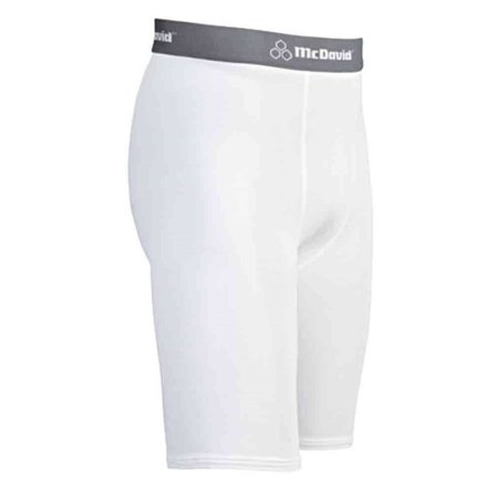 McDavid Classic Logo 810 CL Deluxe Compression Shorts White Large ()