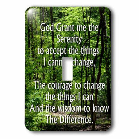 3dRose The Serenity Prayer with a wooded scene - Single Toggle Switch