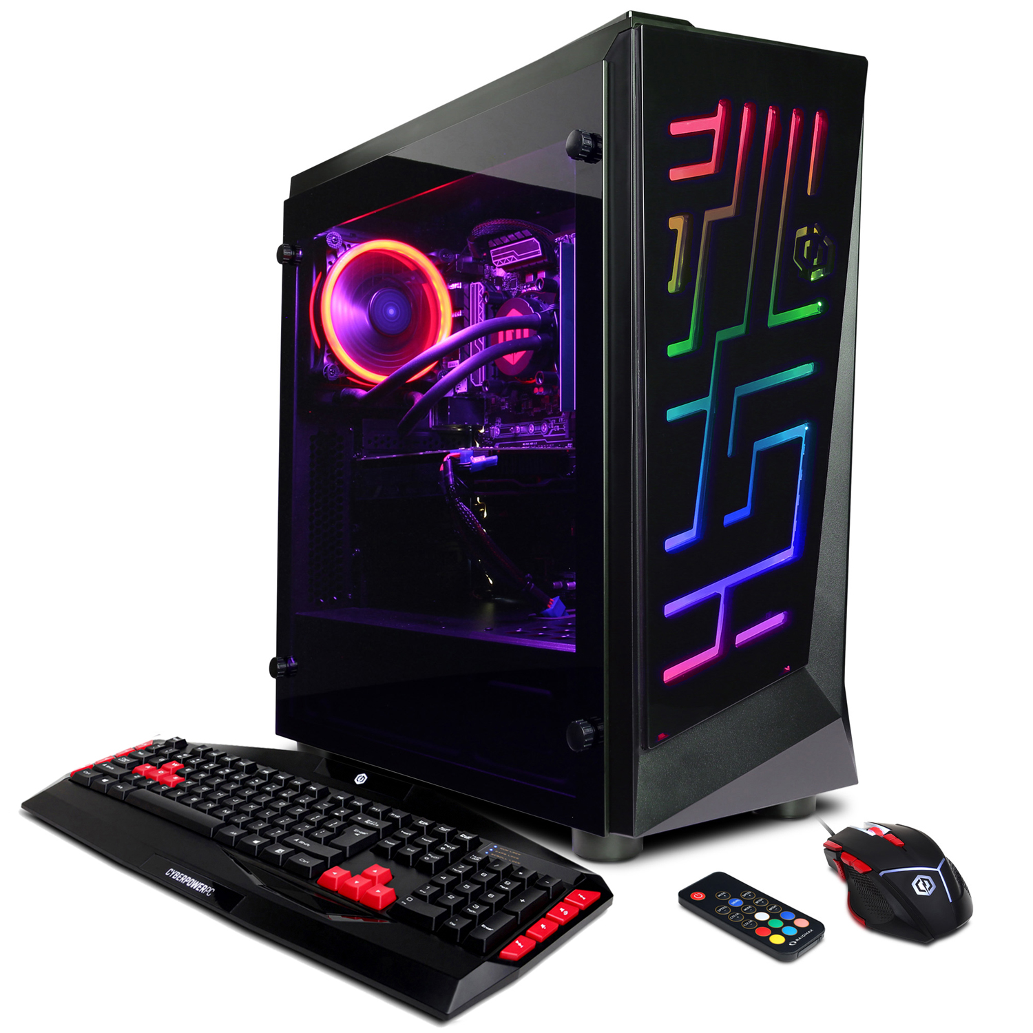 CYBERPOWERPC Gamer Xtreme VR GXiVR3000CPG w/ Liquid Cooled Intel i7-8700, Nvidia GeForce GTX 1070 8GB, 16GB Memory, 2TB Hard Drive and Windows 10 Home 64-Bit Gaming PC