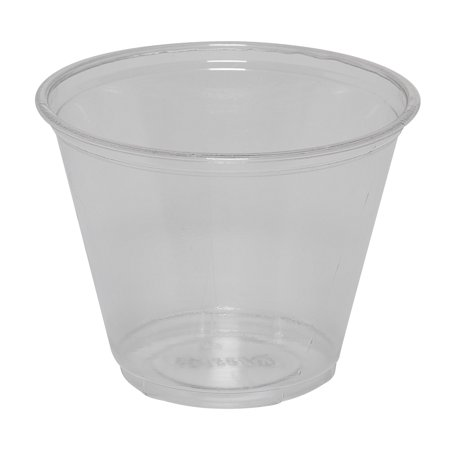Dixie® (CP9A) 9 oz. Plastic Cold Cups by GP PRO (Georgia-Pacific), Clear, 20 Sleeves of 50 Cups (1000 Cups Total) - Plastic Cocktail Cups
