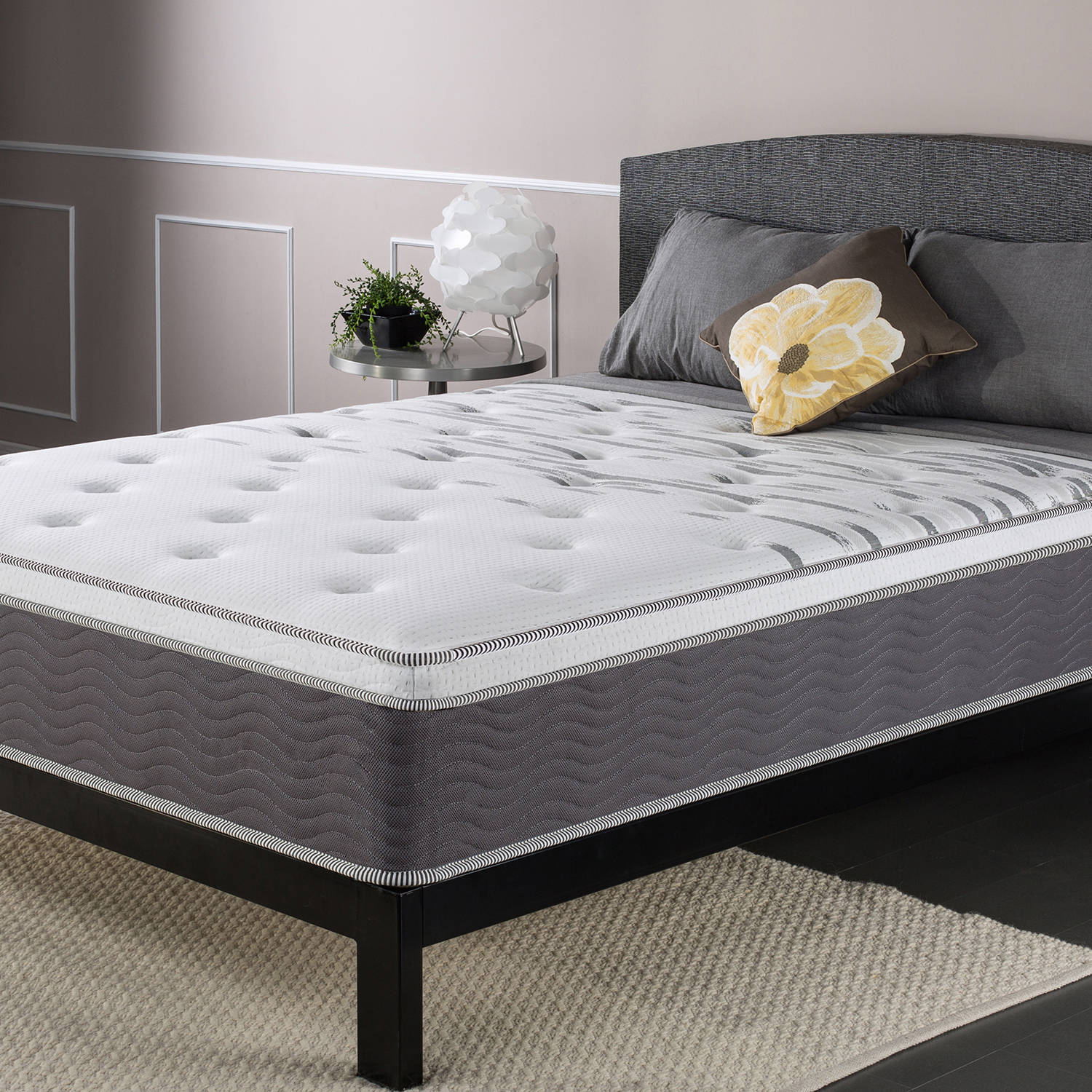 "Slumber 1 Big and Tall Maximum Support 12"" Spring Mattress, Multiple Sizes"
