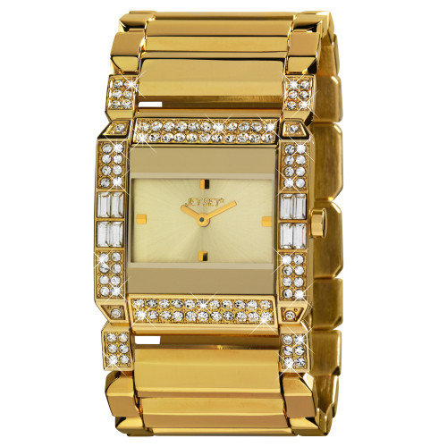 Jet Set Beverly Hills Ladies Watch in Gold