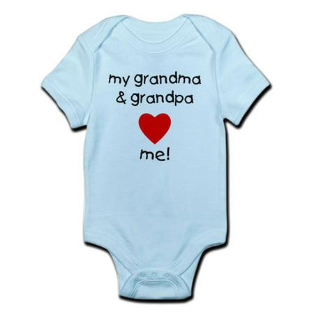 CafePress - My Grandma & Grandpa Love Me Infant Bodysuit - Baby Light Bodysuit Grandma Funny Infant Bodysuit