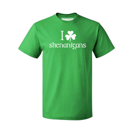 P&B I Shamrock Shenanigans, St Patrick's Day Men's T-shirt, 3XL, Green - Shamrock Skirt
