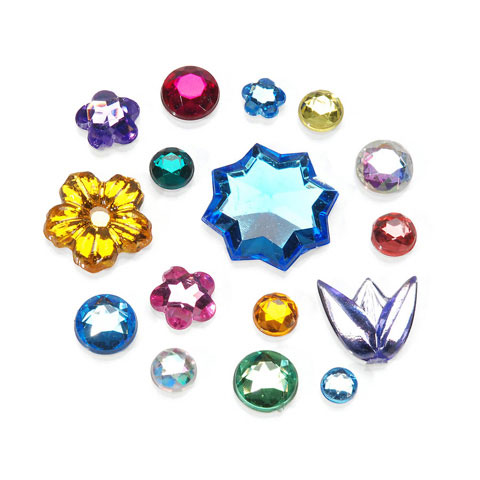 34Lb Rhinestones assorted Flowers