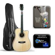 "AT-8600PK Ameritone 41"" Play A Tab acoustic cutaway guitar with Bag"
