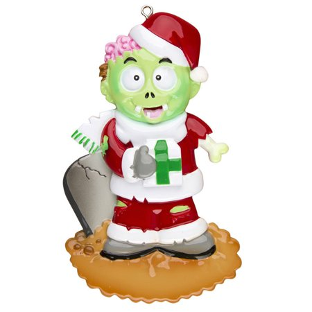Zombie Lawn Ornaments (Zombie Personalized Christmas Ornament)