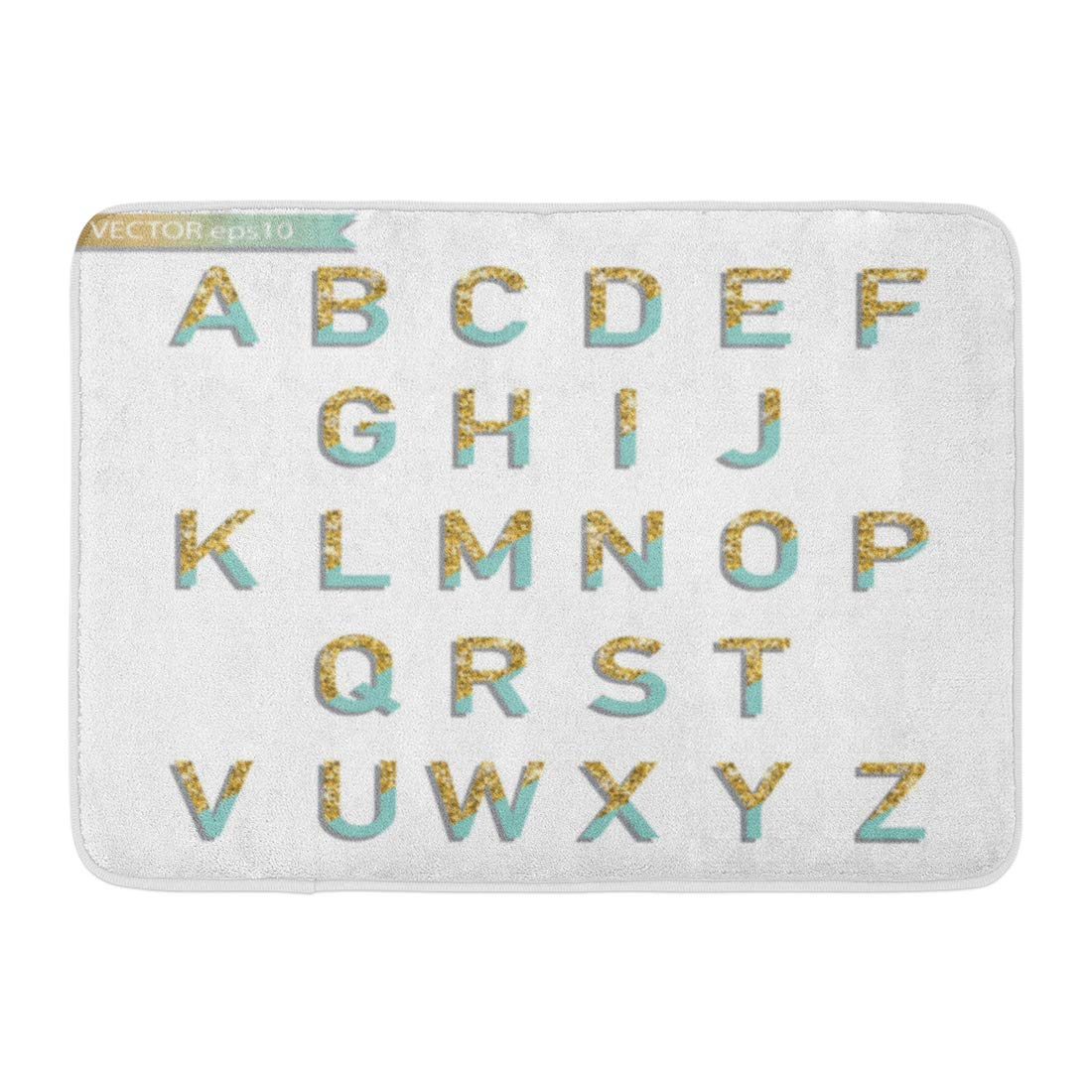 GODPOK Pink Alphabet Pastel Turquoise Gold Glitter Letters