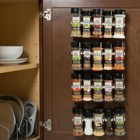 Spice Rack Organizer Cabinet Gripper Clip Strips For