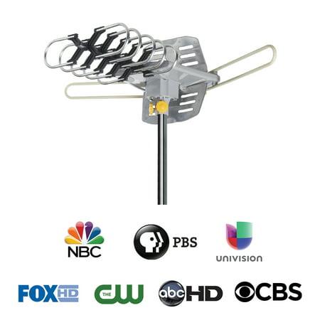 - Onn 4K Hd Motorized Outdoor TV Antenna With 150-Mile Range