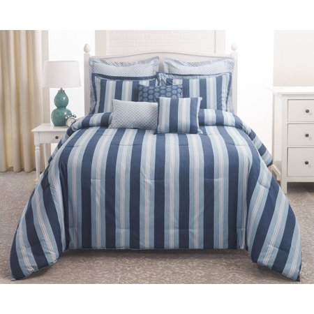 12 Piece Chatham Stripe Oversized Bed in a Bag Set