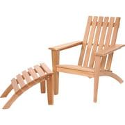 All Things Cedar Western Red Cedar Solid Wood Adirondack Chair with Ottoman